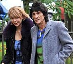 Rolling Stones' Ronnie Wood Goes Dog Walking With Russian Waitress
