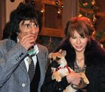 Ronnie Wood And Russian Waitress Turn On London Christmas Lights