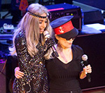 Lady Gaga Joins Yoko Ono Onstage At John Lennon Tribute Gig