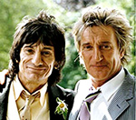 Faces' Rod Stewart And Ronnie Wood Reunite In London